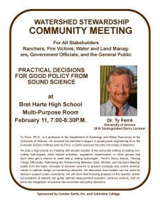 Watershed Stewardship Community Meeting @ Bret Hart High School Multip-Purpose Room | Angels Camp | California | United States