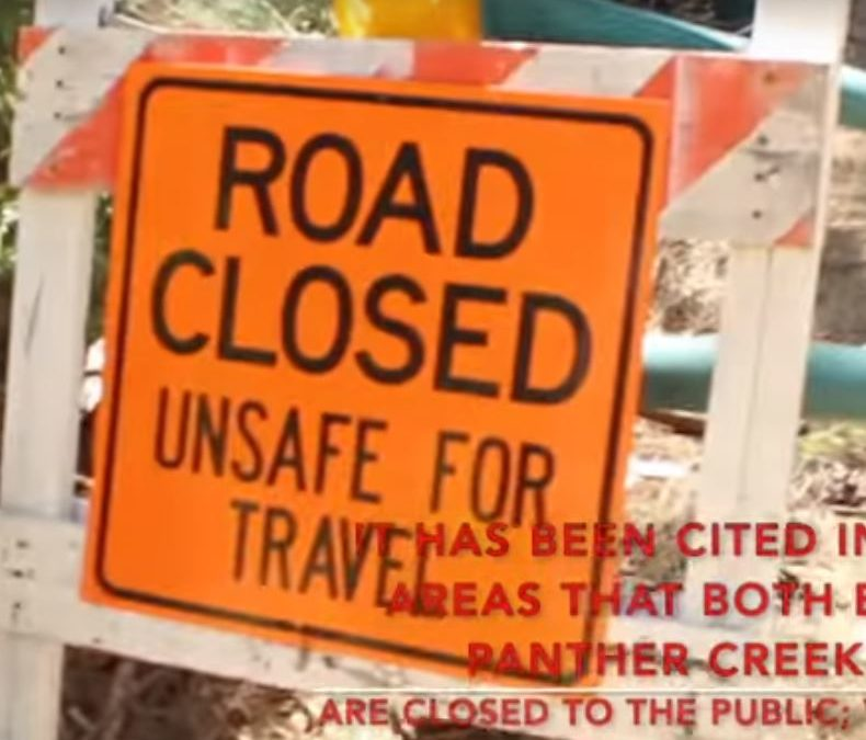 Hazardous Roads in California's Eldorado National Forest