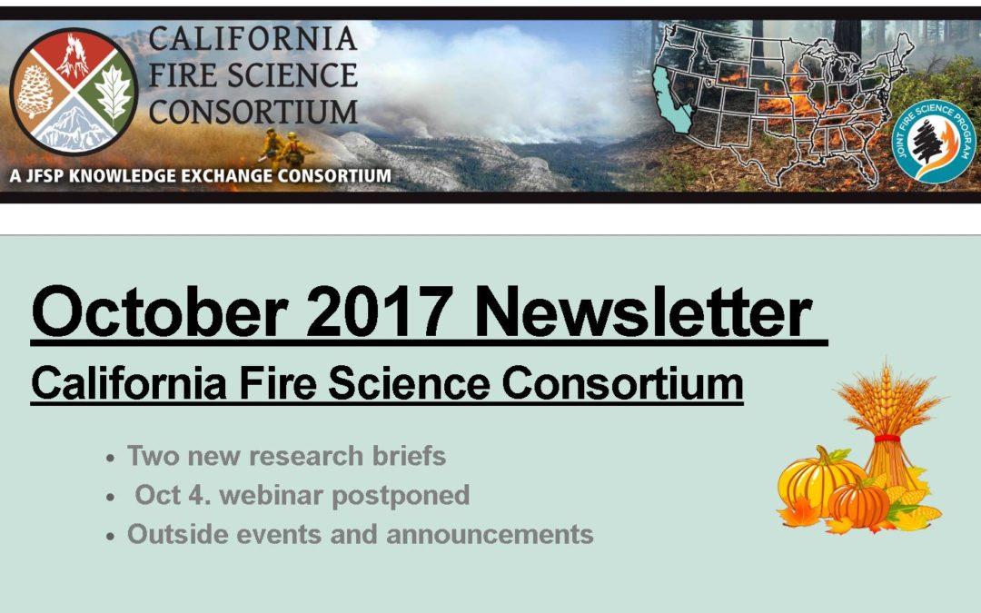 California Fire Science Consortium Newsletter