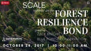 SCALE webinar on the Forest Resilience Bond